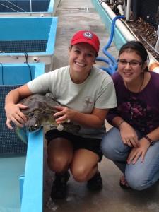 Rehabilitation Specialist Devin with Rescuer Hannah Mazzucchi