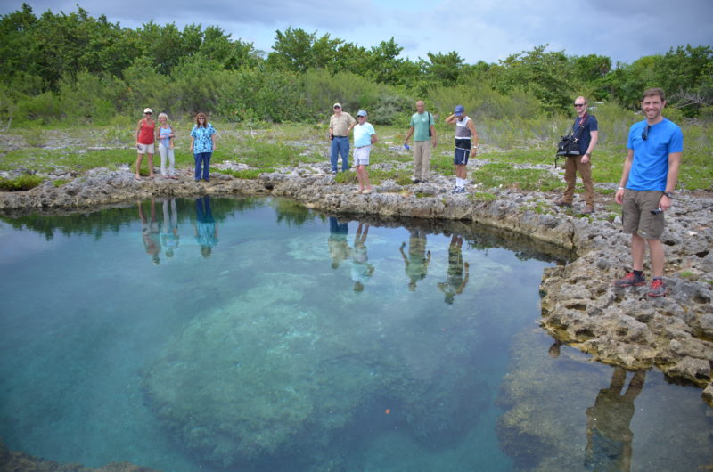Cuba team at blue hole